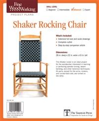 Fine Woodworking's Shaker Rocking Chair Plan