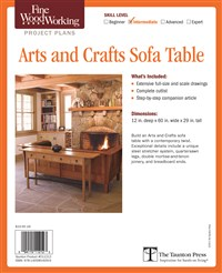 Fine Woodworking's Arts and Crafts Sofa Table Plan