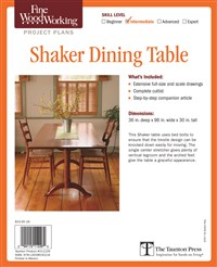 Fine Woodworking's Shaker Dining Table Plan