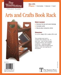 Fine Woodworking's Arts and Crafts Book Rack Plan