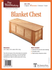 Fine Woodworking's Blanket Chest Plan