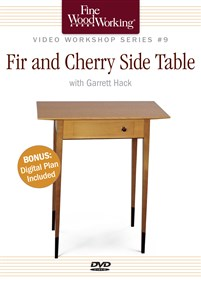 Fine Woodworking Video Workshop Series - Fir and Cherry Side Table