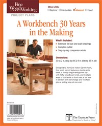 Fine Woodworking's A Workbench 30 Years in the Making Plan