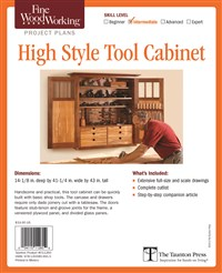Fine Woodworking's High Style Tool Cabinet Plan
