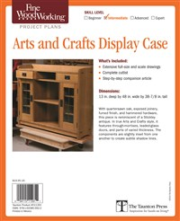 Fine Woodworking's Arts and Crafts Display Case Plan