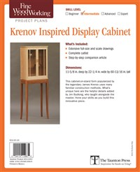 Fine Woodworking's Krenov Inspired Display Cabinet Plan