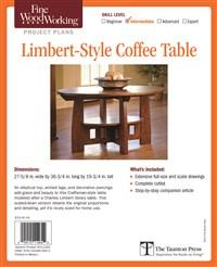 Fine Woodworking's Limbert-Style Coffee Table Plan