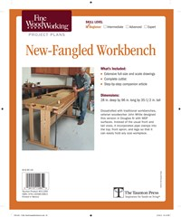 Fine Woodworking's New-Fangled Workbench Plan