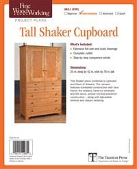 Fine Woodworking's Tall Shaker Cupboard Plan