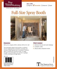 Fine Woodworking's Full Size Spray Booth Plan