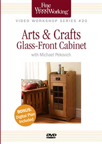Arts & Crafts Glass-Front Cabinet