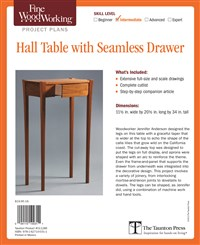 Fine Woodworking's Hall Table with Seamless Drawer Plan