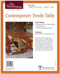 Fine Woodworking's Contemporary Trestle Table Plan