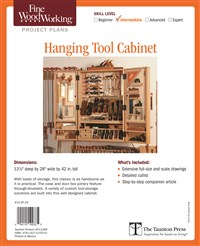 Fine Woodworking's Hanging Tool Cabinet Plan