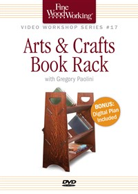 Fine Woodworking Video Workshop Series - Arts & Crafts Book Rack