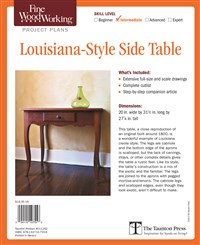 Fine Woodworking's Louisiana-Style Side Table Plan