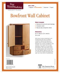 Fine Woodworking's Bowfront Wall Cabinet Plan