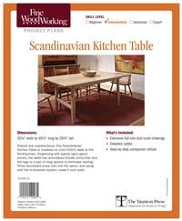 Fine Woodworking's Scandinavian Kitchen Table Plan