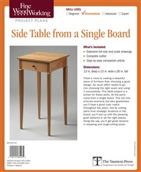 Fine Woodworking's Side Table from a Single Board Plan