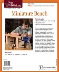 Fine Woodworking's Miniature Bench Plan