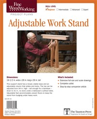 Fine Woodworking's Adjustable Work Stand Plan