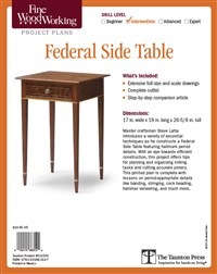 Fine Woodworking's Federal Side Table Plan