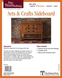 Fine Woodworking's Arts & Crafts Sideboard Plan