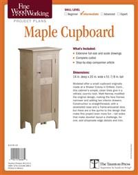 Fine Woodworking's Maple Cupboard Plan