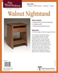 Fine Woodworking's Walnut Nightstand Plan