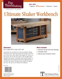 Fine Woodworking's Ultimate Shaker Workbench Plan