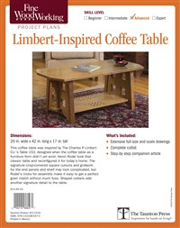 Fine Woodworking's Limbert-Inspired Coffee Table Plan