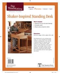 Fine Woodworking's Shaker-Inspired Standing Desk
