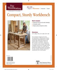 Fine Woodworking's Compact, Sturdy Workbench Plan