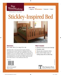 Fine Woodworking's Stickley-Inspired Bed Plan
