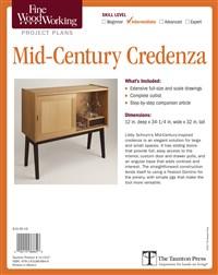 Fine Woodworking's Mid-Century Credenza Plan
