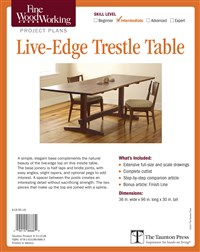 Fine Woodworking's Live-Edge Trestle Table Plan