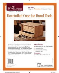 Fine Woodworking's Dovetailed Case for Hand Tools Plan