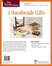Fine Woodworking's 4 Handmade Gifts Plan