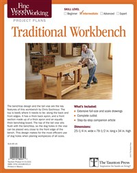 Fine Woodworking's Traditional Workbench Plan