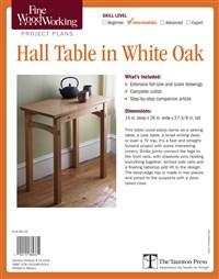 Fine Woodworking's Hall Table in White Oak Plan
