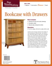 Fine Woodworking's Bookcase with Drawers Plan