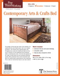 Fine Woodworking's Contemporary Arts and Crafts Bed Plan
