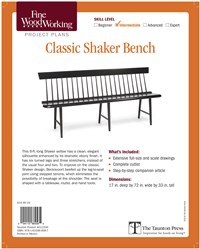 Fine Woodworking's Classic Shaker Bench Plan