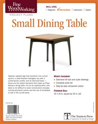 Fine Woodworking's Dining Table Plan