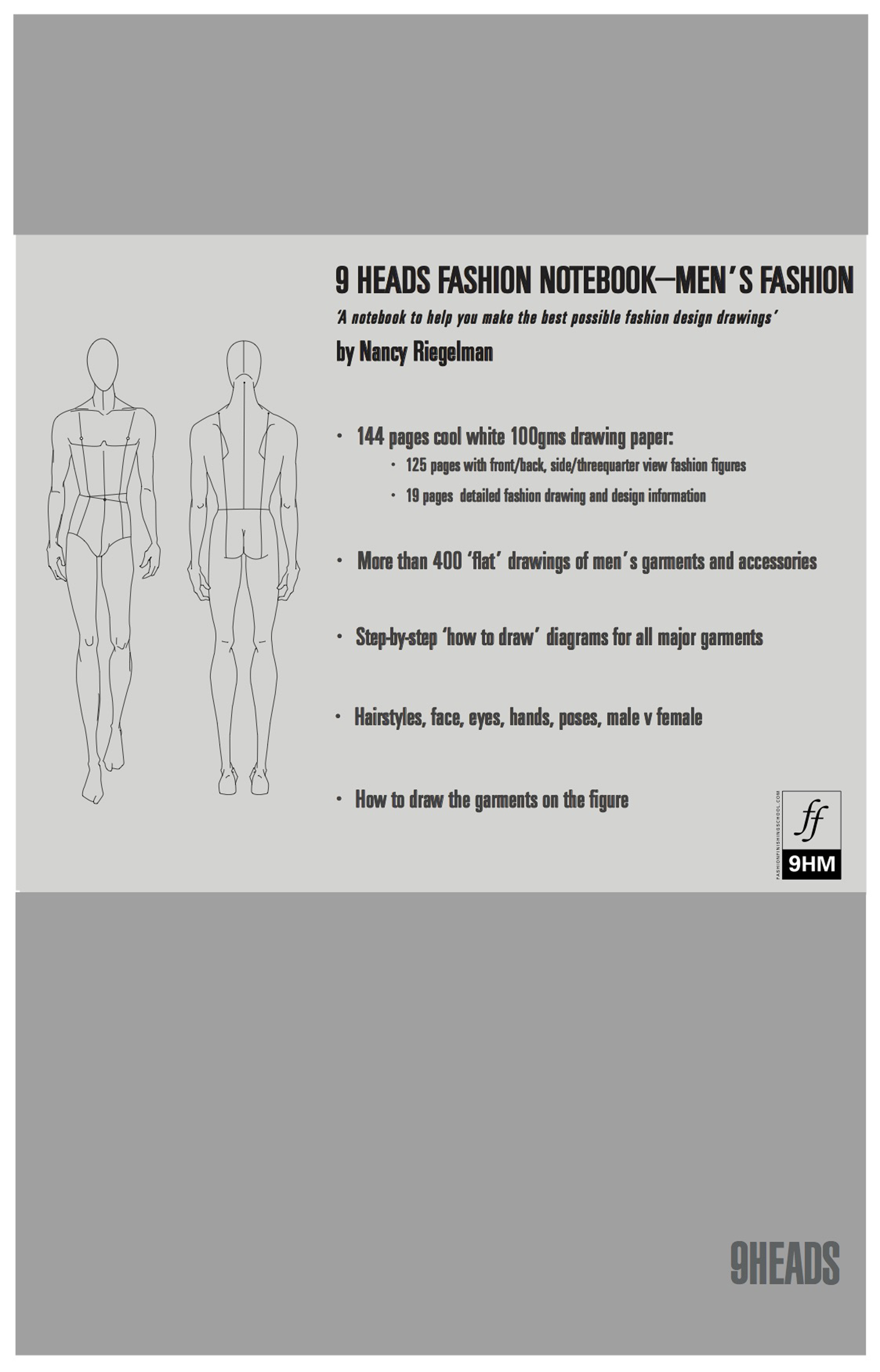 9 Heads Fashion Notebook--Men's Fashion
