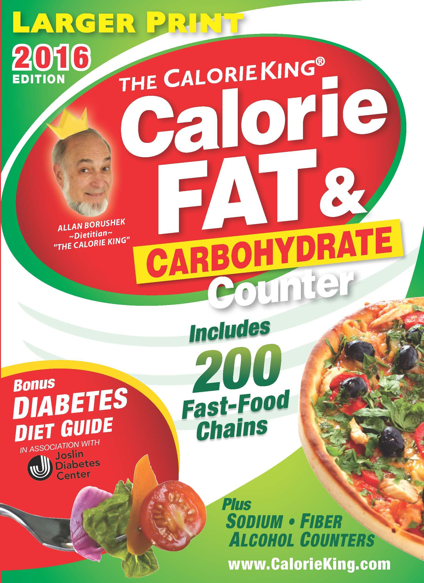 The CalorieKing Calorie, Fat & Carbohydrate Counter 2016