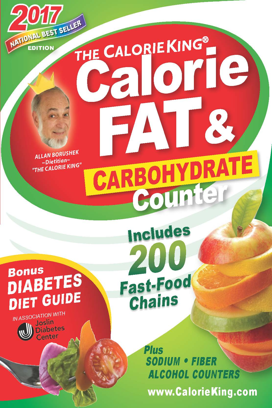 The CalorieKing Calorie, Fat & Carbohydrate Counter 2017