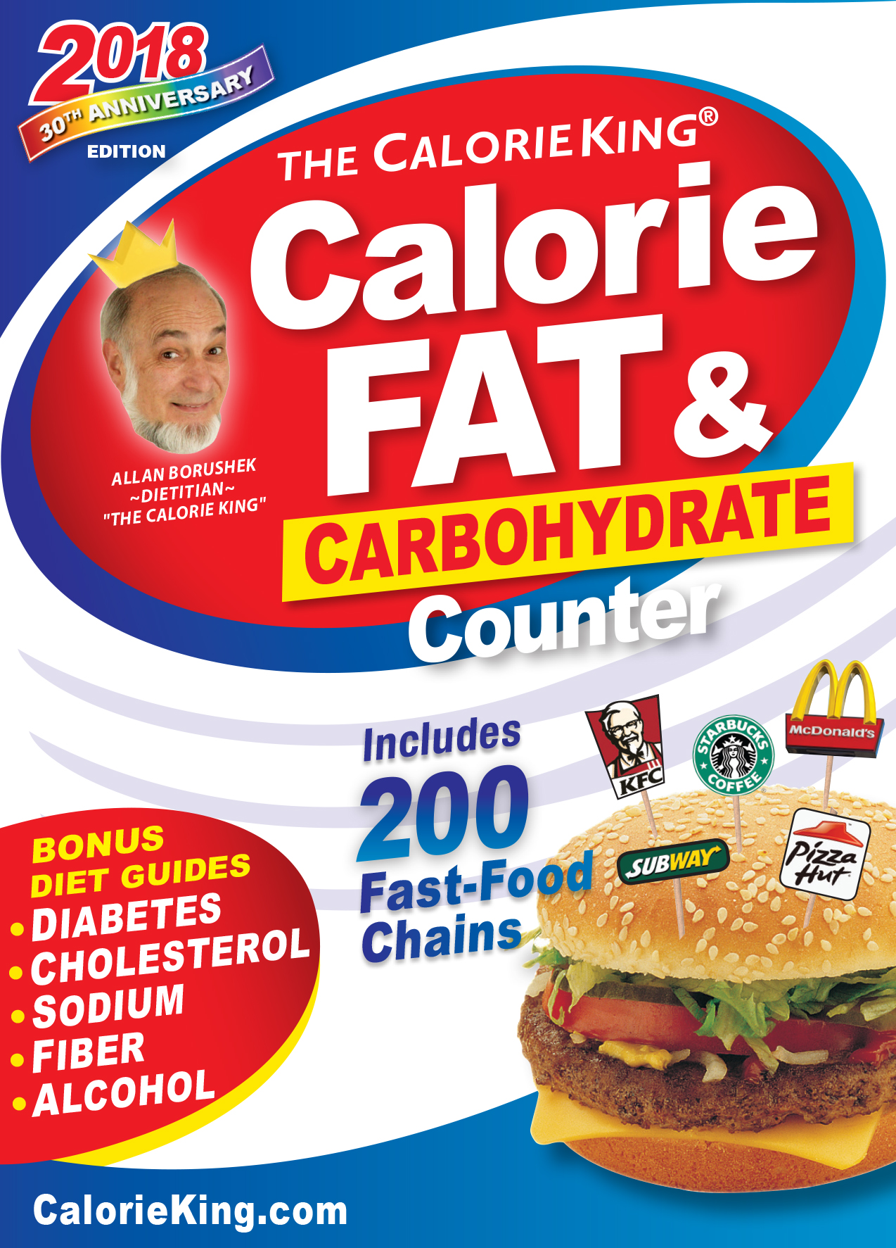 The CalorieKing Calorie, Fat & Carbohydrate Counter 2018