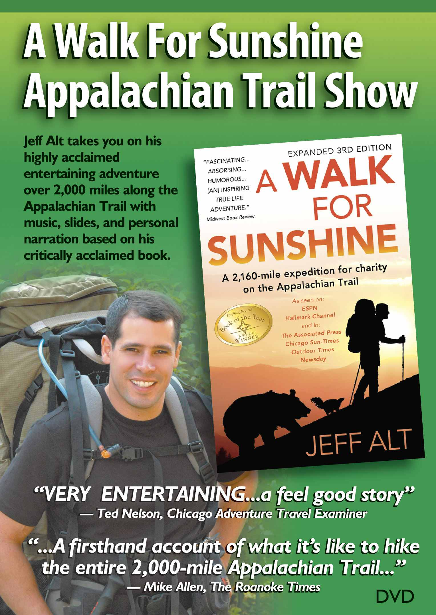 A Walk For Sunshine Appalachian Trail Show-DVD