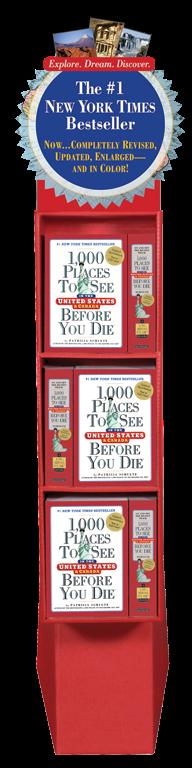 1,000 Places to See in the United States and Canada Before You Die 12-copy Floor Display